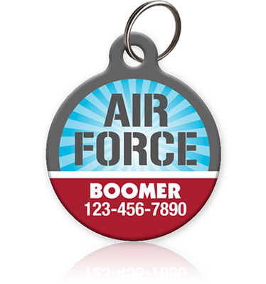 Air Force pet ID tag
