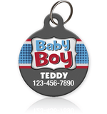 Baby Boy Pet ID Tag