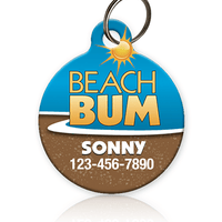 Beach Bum Pet ID Tag
