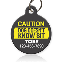 Caution Dog - Pet ID Tag