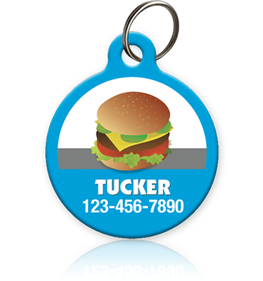 Cheeseburger Pet ID Tag - Aw Paws