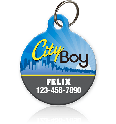 City Boy - Pet ID Tag