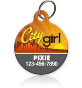 City Girl Pet ID Tag - Aw Paws