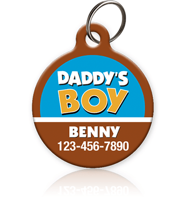 daddy's boy pet id tag