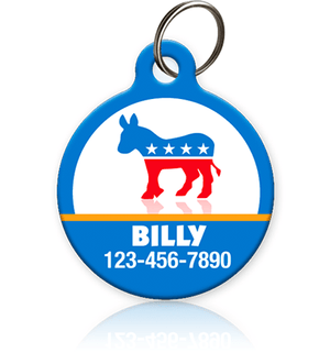 Democratic Donkey - Pet ID Tag