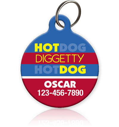 Hot Diggetty Dog Pet ID Tag - Aw Paws