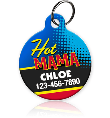 Hot Mama Pet ID Tag - Aw Paws