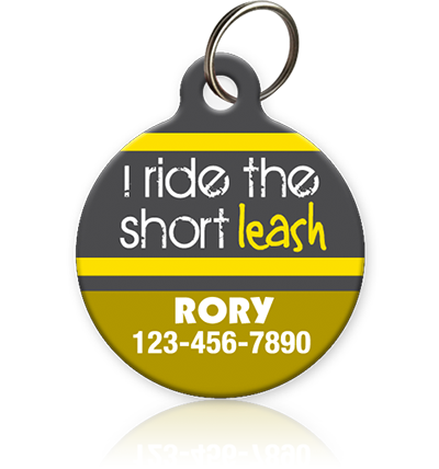 Short Leash Pet ID Tag