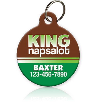 King Napsalot - Pet ID Tag