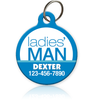 Ladies' Man Pet ID Tag