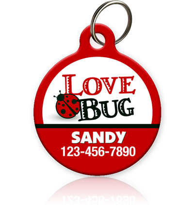 love bug pet id tag