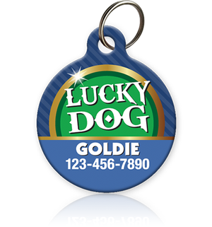 Lucky Dog Pet ID Tag