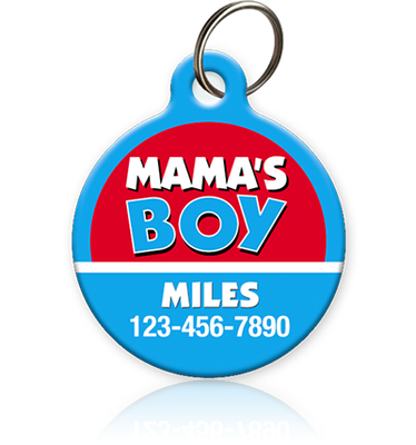 Mama's Boy Pet ID Tag