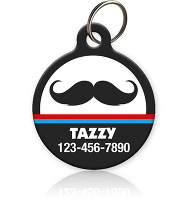 Mustache Pet ID Tags