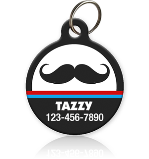 Mustache - Pet ID Tags