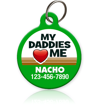 Daddies Love Me Pet ID Tag