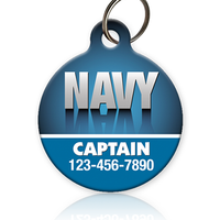 Navy - Pet ID Tag