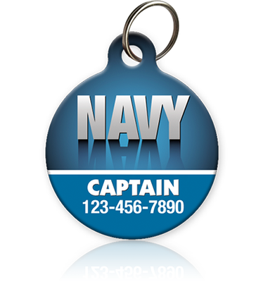 Navy Pet ID Tag