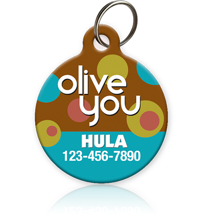 Olive You Pet ID Tag