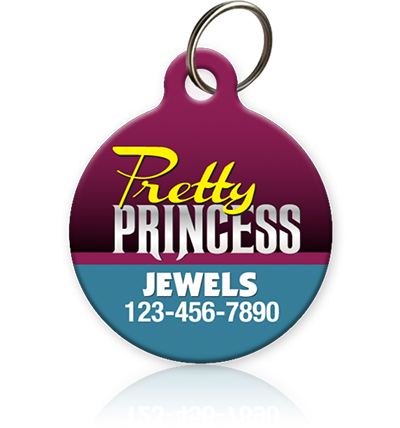 Pretty Princess - Pet ID Tag