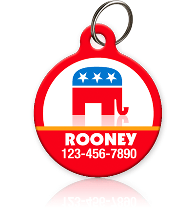 GOP Elephant - Pet ID Tag