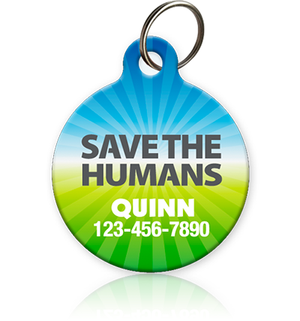 Save the Humans Pet ID Tag