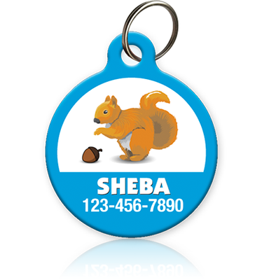 Squirrel Pet ID Tag