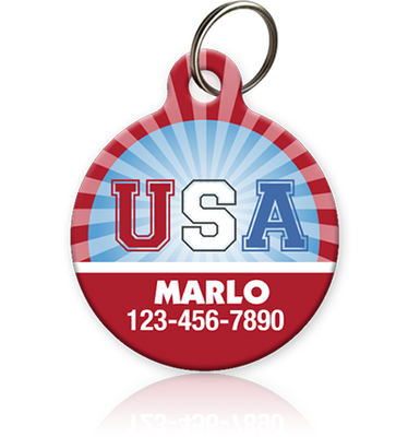 USA Pet ID Tag