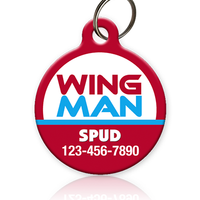 Wing Man Pet ID Tag