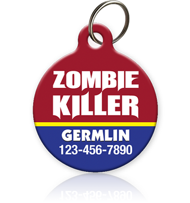 Zombie Killer - Pet ID Tag