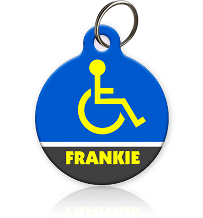 Handicap Symbol - Pet ID Tag