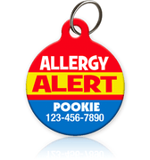 Allergy Alert Pet ID Tag