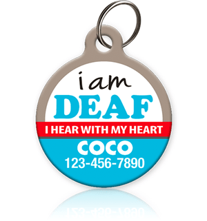 Deaf Pet ID Tag for dog or cat