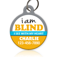 Blind Pet ID Tag of cat or dog