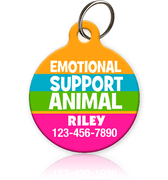 Emotional Support Animal Pet ID Tag - Aw Paws