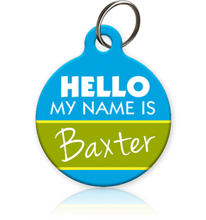 Hello my name is pet id Tag