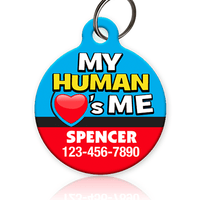 My Human Loves Me Pet ID Tag - Aw Paws
