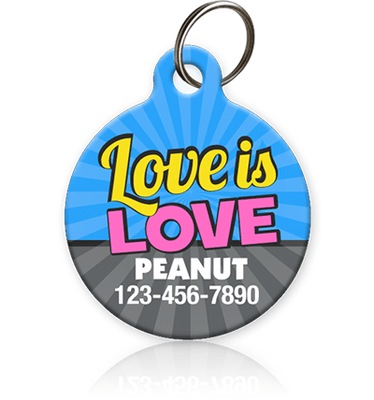 Love is Love Pet ID Tag - Aw Paws
