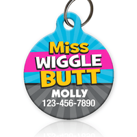 Miss Wiggle Butt Pet ID Tag - Aw Paws