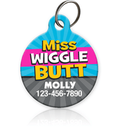 Miss Wiggle Butt Pet ID Tag