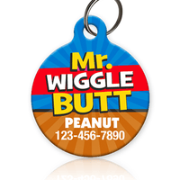 Mr Wiggle Butt Pet ID Tag - Aw Paws
