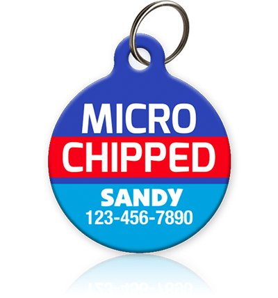 Microchipped Pet ID Tag - Aw Paws