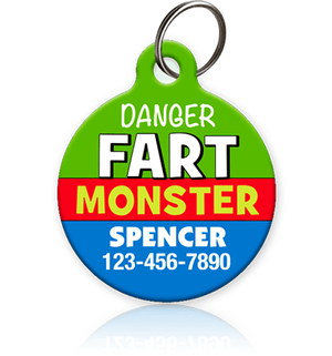 Fart Monster Pet ID Tag - Aw Paws