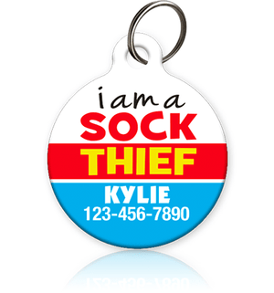 Sock Thief PET ID TAG