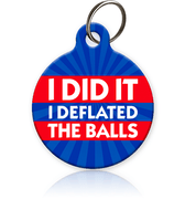 Deflate Gate Pet ID Tag - Aw Paws