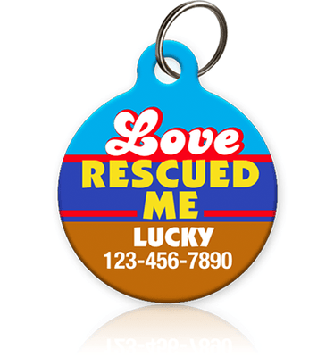 Love Rescued Me Pet ID Tag - Aw Paws