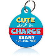 Cute and in Charge Pet ID Tag - Aw Paws