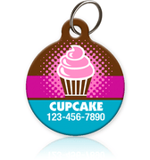Cupcake Pet ID Tag - Aw Paws