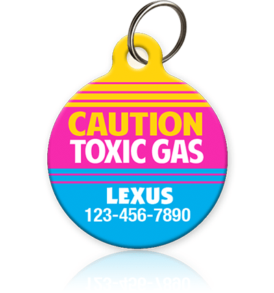 Toxic Gas Pet ID Tag - Aw Paws