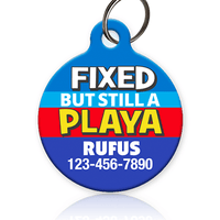 Fixed Playa Pet ID Tag - Aw Paws
